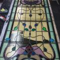 """Kensington"" Large Art Nouveau window ready for installation"